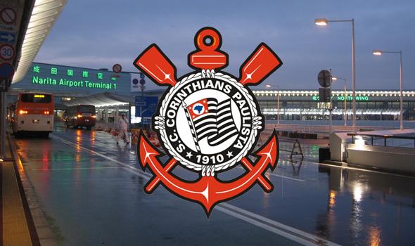 Corinthians chega no aeroporto de Narita - Japão
