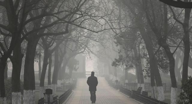 Reprodução: globo.com (Ng Han Guan/AP) - Poluição em Pequim é a pior de todos os tempos