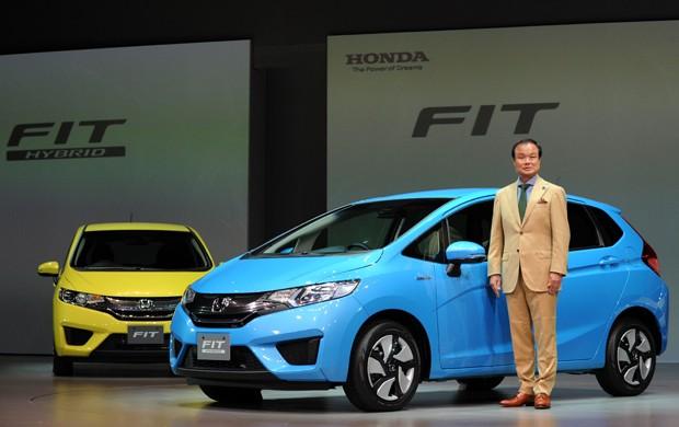 Reprodução: Auto Esporte (AFP PHOTO / TOSHIFUMI KITAMURA) - Lançamento do novo Fit Híbrido em Tóquio