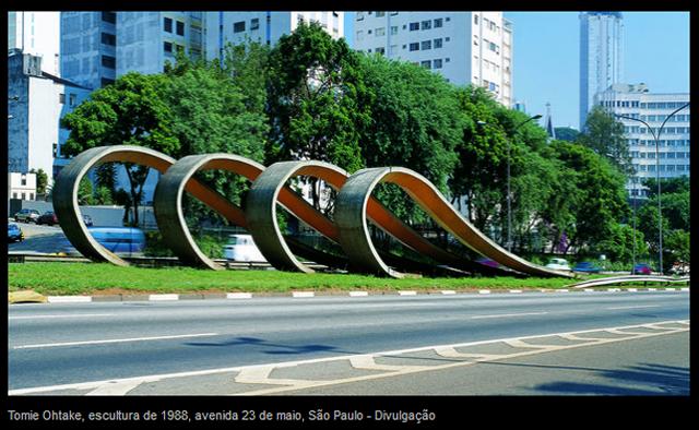Reprodução: Veja - Homenagem aos 80 anos de Imigração Japonesa - Av. 23 de maio em São Paulo