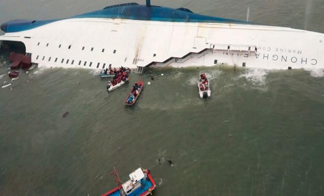 Reprodução: globo.com (Korea Coast Guard/Yonhap/Reuters)